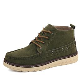 Casual Men Suede Leather Shoes Brand Quality Footwear Men Boots