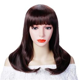 Short Straight Wigs Black Brown 3 Colors Synthetic Hair For Women